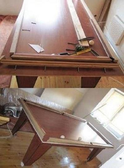 как сделать стол для бильярда своими руками