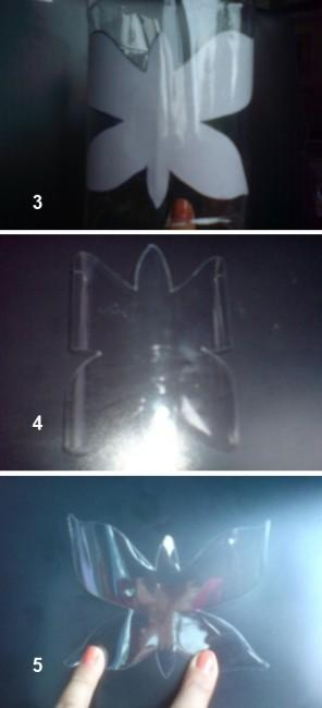 бабочка из пластиковых бутылок