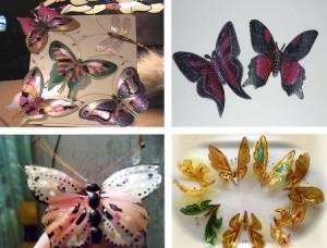 Бабочки из пластиковых бутылок