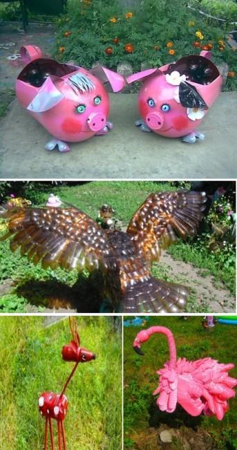 Животные из пластиковых бутылок