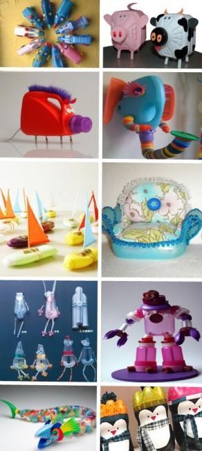 Игрушки из пластиковых бутылок 2