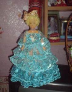 кукла-шкатулка из пластиковых бутылок