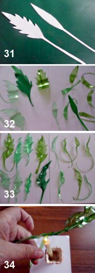 как сделать букет цветов из пластиковых бутылок