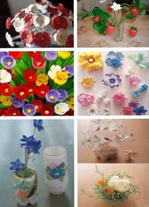 красивые цветы из пластиковых бутылок своими руками