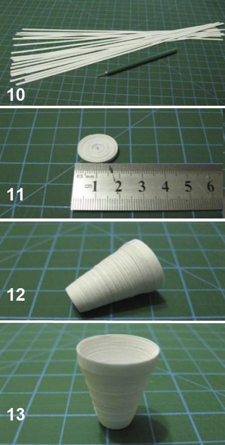 Квиллинг. Картинка изготовления туфельки