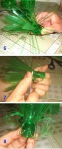 пошагово цветы из пластиковой бутылки