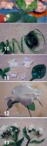 делаем букет роз из пластиковых бутылок
