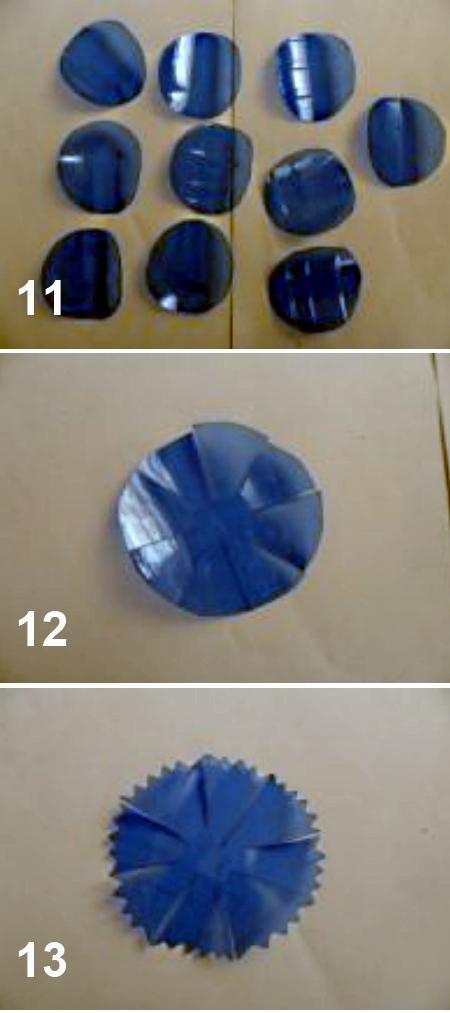 как сделать васильки из пластиковых бутылок