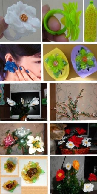 невероятные цветы из пластиковых бутылок своими руками