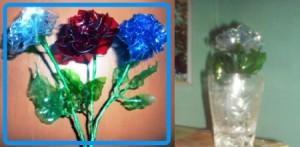 готовый цветок из пластиковой бутылки