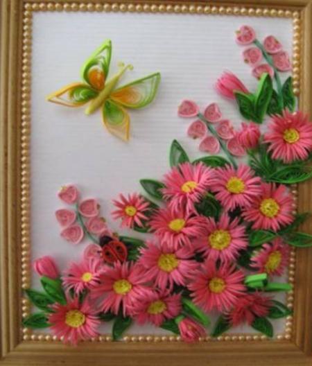 Квиллинг. Цветы хризантемы