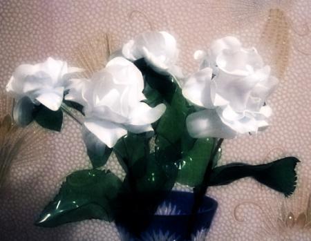 ваза с цветами из пластиковых бутылок своими руками