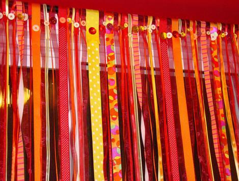 декоративные шторы на день рождения маме