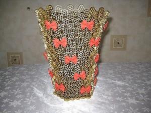 ваза из макарон в подарок маме на день рождения