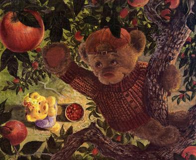 медведь и яблоня