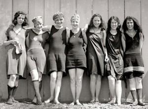 модели женских купальников 20 годов