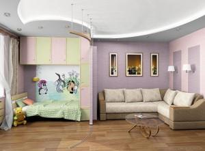оформление детской в спальне родителей