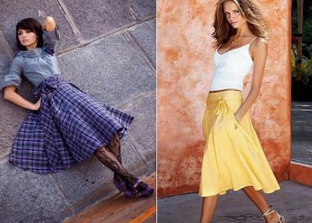 трапецевидные платья и юбки
