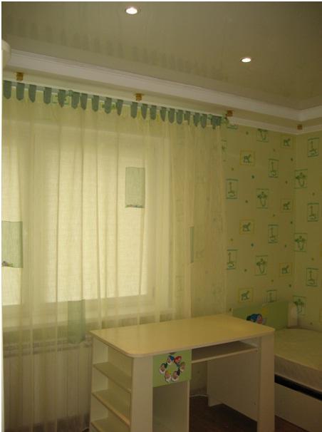 бежевые шторы для детской комнаты