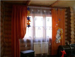 темные шторы в детской комнате