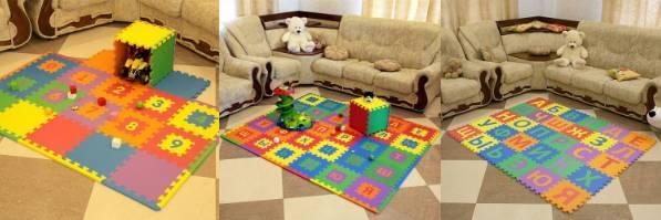 коврики пазлы для детской