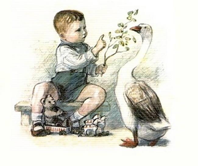 Этот, хоть и сам с вершок, спорит с грозной птицей