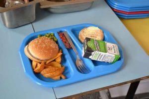 Мясной обед школьника в Англии