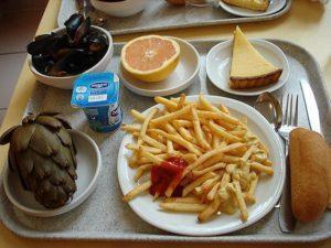 Школьный обед во Франции