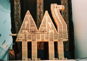 Постройки из деревянного конструктора