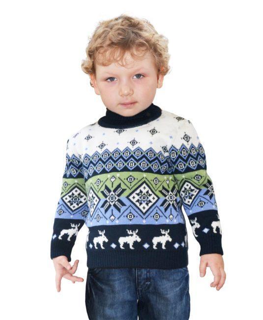 свитер детский с оленями