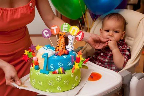 Тортик на 1 год своими руками 35