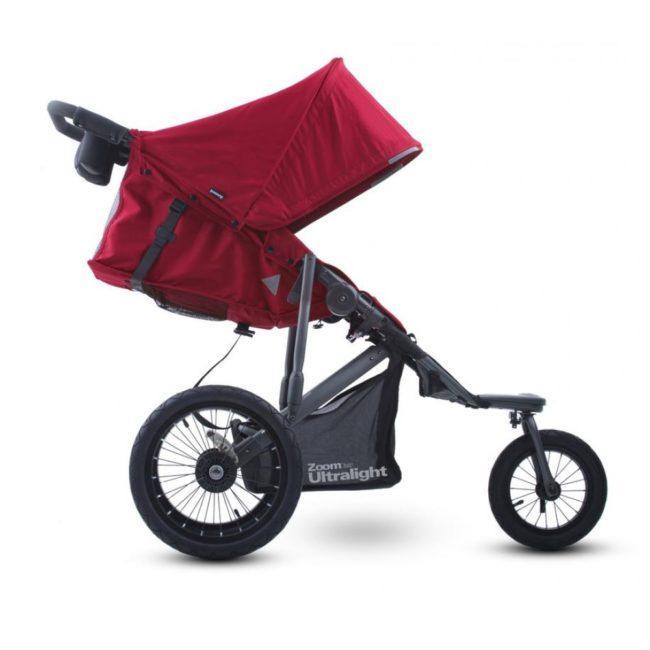 прогулчная коляска с большими колесами и капюшоном OOVY Zoom 360 Ultralight
