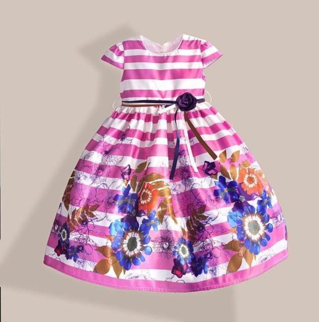 яркое летнее платье для девочек