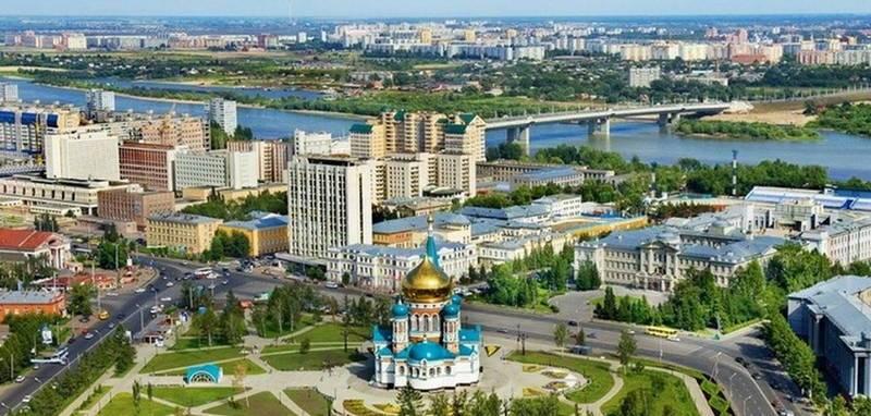 Омск. Красивая панорама города