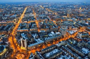 панорама зимнего Новосибирска. Жемчужина Сибири