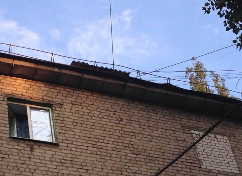 в Воронеже жильцы сами ремонтируют текущие крыши