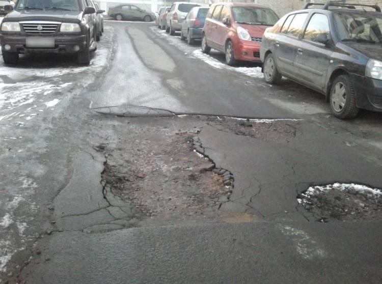 ямы на дороге в Санкт-Петербурге