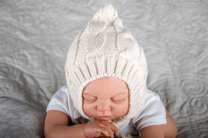 Размер вязаной шапочки для новорожденного