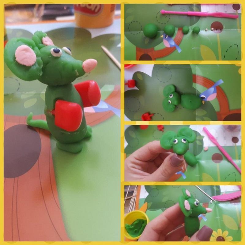пошаговая инструкция как слепить мышку из пластилина