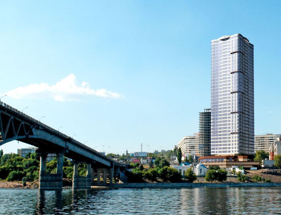 Небоскреб Елена - самое высокое здание в Поволжье