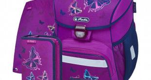 ортопедический рюкзак для девочки с бабочками