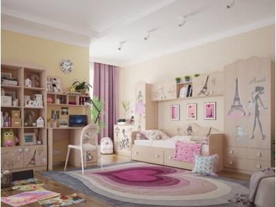 модульная мебельная комната для девочки