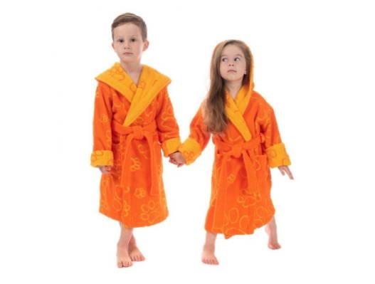 оранжевый детский халатик
